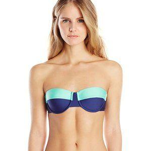 Splendid Colorblock Strapless Bikini Top Large NWT